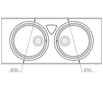 """Кварцевая мойка для кухни <span style=""""color:#d91f43"""">Duolake</span>"""