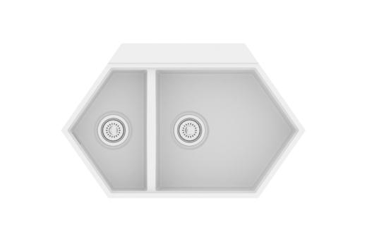 "Кварцевая мойка для кухни <span style=""color:#d91f43"">Creek</span>"