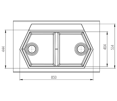 "Кварцевая мойка для кухни <span style=""color:#d91f43"">Gulf</span>"