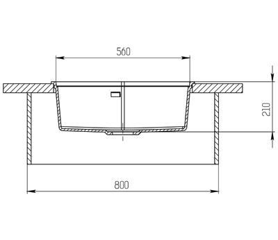"""Кварцевая мойка для кухни <span style=""""color:#d91f43"""">Ocean</span>"""