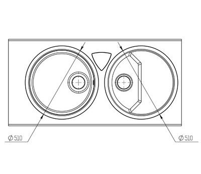 "Кварцевая мойка для кухни <span style=""color:#d91f43"">Duo Stream</span>"