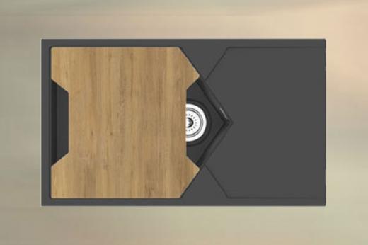 "Кварцевая мойка для кухни <span style=""color:#d91f43"">Sea</span>"