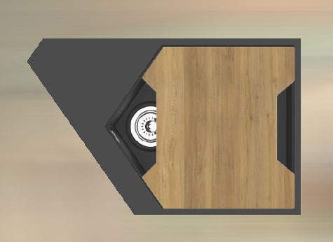 """Кварцевая мойка для кухни <span style=""""color:#d91f43"""">River</span></br> с антибактериальной разделочной доской"""